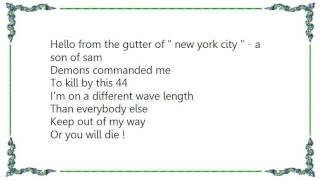 Church of Misery - Son of a Gun David Berkowitz Lyrics
