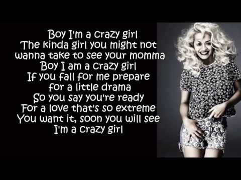 Rita Ora  Crazy Girl Lyrics On Screen) - YouTube
