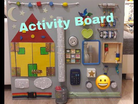 DIY Activity Board Busy Board für Kleinkinder..... Motorik Spielzeug selber machen