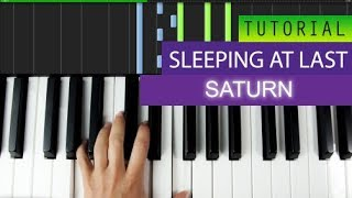 Saturn By Sleeping At Last Piano Tutorial + MIDI Download