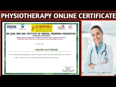 Physiotherapy Certificate | Physiotherapy Online Course Free ...