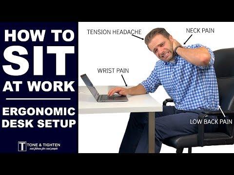 STOP Neck, Back, & Headache Pain At Work - Ergonomic Desk Set Up