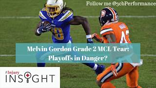 Los Angeles Chargers Melvin Gordon Grade 2 MCL Tear: Playoffs in Jeopardy?