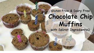 gluten free vegan choc chip muffins