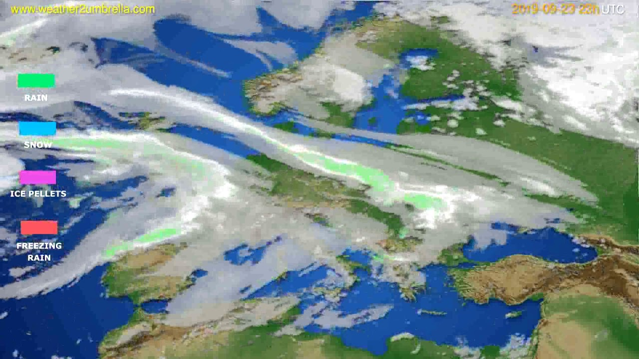 Precipitation forecast Europe // modelrun: 12h UTC 2019-09-20