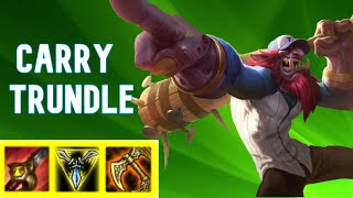 HYPER CARRY TRUNDLE NEW BUILD! Full Gameplay | League of Legends