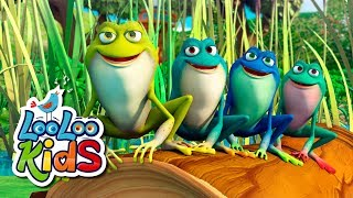 Five Little Speckled Frogs - THE BEST Educational Songs for Children | LooLoo Kids