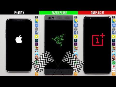 iPhone X vs Razer Phone vs OnePlus 5T: speed test