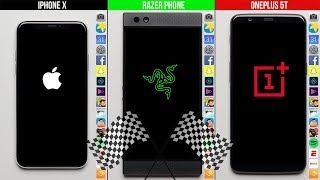 Apple iPhone X vs. Razer Phone vs. OnePlus 5T Speed Test