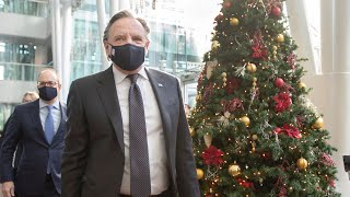 COVID-19: Legault announces 'holiday pause' affecting stores, schools and workplaces