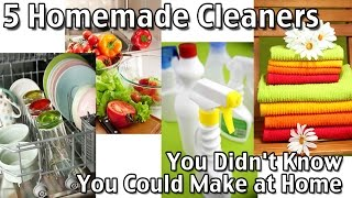 5 Homemade Cleaners You Didnt Know You Could Make At Home