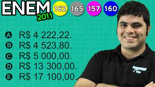 ENEM 2011 Matemática #25 - Matemática Financeira e Cálculo de Porcentagem (com pegadinha)
