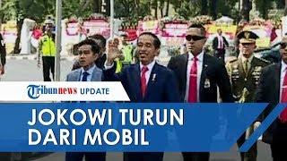 Jokowi Tiba-tiba Turun dari Mobil Salami Warga sebelum Pelantikan, Gibran sampai Lari Dekati Ayahnya
