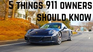 5 things Porsche 911 owners should know - also Boxster +  Cayman