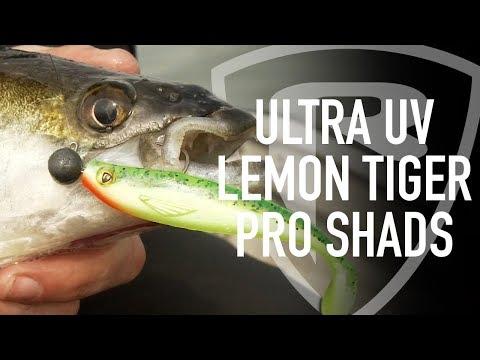 Fox Rage ULTRA UV LEMON TIGER PRO SHADS  - plasztikcsali (több méretben) videó