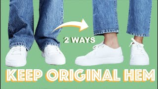 How To Hem Jeans With The Original Hem - Euro Hem Tutorial | LYDIA NAOMI