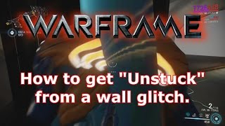 Warframe Tips: Get unstuck from a wall glitch.