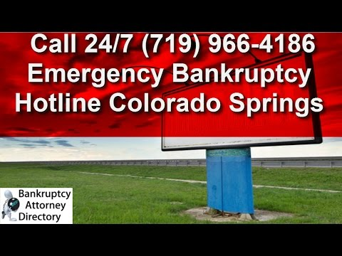 Emergency Bankruptcy Lawyer Colorado Springs 719 966