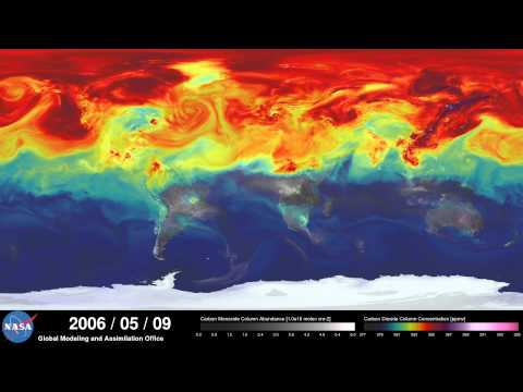 Watch A Year Of CO2 Swirl Around The Planet