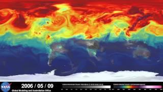 סימולציה של פליטת CO2 בשנה אחת