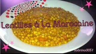 Ma Recette Des Lentillesà La Marocaine !!