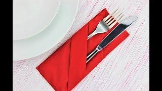 How To Fold Napkin Into A Pocket - Easy Napkin Folding Tutorial For Beginners