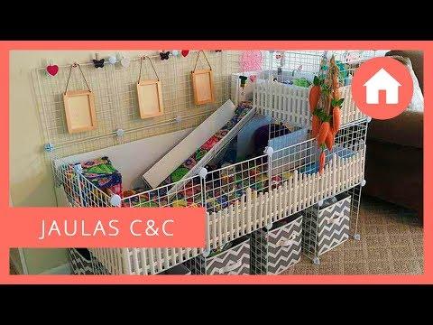 JAULAS / RECINTOS C&C / CYC PARA COBAYAS 🏠🐹 Ventajas, materiales, tutorial, diseños...