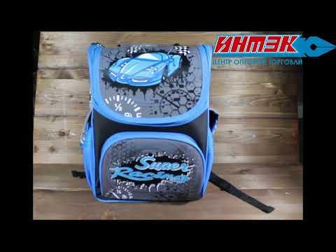 Рюкзак каркасный, бок. карман. светоотражающие элементы, уплот. дно. RACING CARS  Арт.WL-857