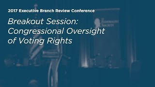 Click to play: Congressional Oversight of Voting Rights - Event Audio/Video