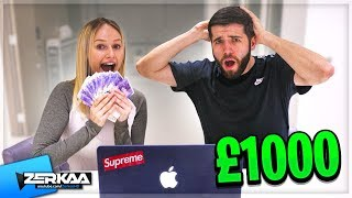 I Gave My Girlfriend £1000 To Spend In 10 Minutes!