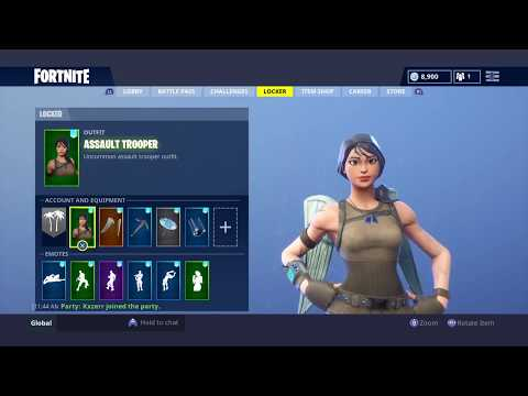 top 5 skin backbling combos in fortnite - assault trooper fortnite combos
