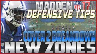 Madden NFL 17 Defensive Tips: Cover 2 | NEW ZONES BREAKDOWN!