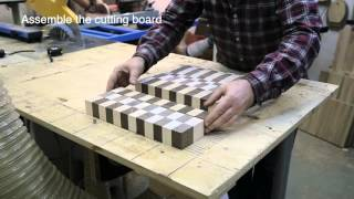 3D end grain cutting board #9 (version for woodworkers)