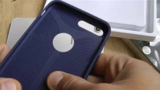 Baseus Hermit Bracket Case Phone Shell for iPhone 7 Plus 5.5 inch  -  BLUE