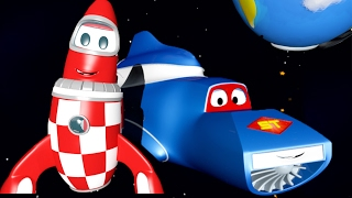 Carl the Super Truck and the Rocket in Car City   Trucks Cartoon for kids 🚚💨🚀