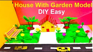 How To Make Small House For School Project Model With Garden | Howtofunda | DIY Project