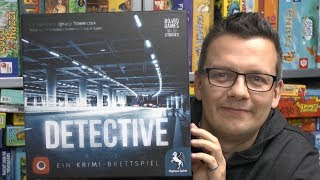 Detective (Pegasus Spiele) - ab 16 Jahre - spoilerfrei - Nominiert zum Kennerspiel des Jahres 2019