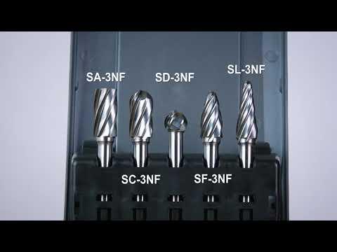 FindBuyTool Carbide Burrs Set ALUMIN Range 1/4 Shank, 5Pcs