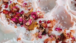 Making A Natural Rose Clay And Sea Salt Cold Process Soap + Essential Oils | Royalty Soaps