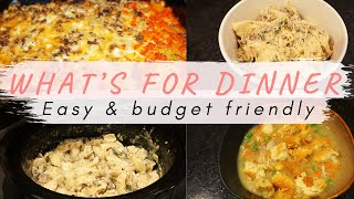 WHAT'S FOR DINNER | EASY AND BUDGET FRIENDLY MEAL IDEAS | Jordan Murdock