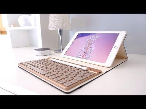 Tastatur Und Hülle fürs iPad 2018 Case ( REVIEW)