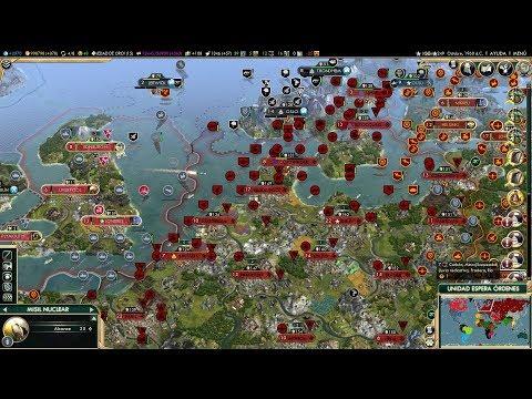 Стрим Civilization V на четверых на карте внутреннее море
