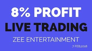 Intraday Trading Profit Live 8% in Zee Entertainment in 25 minutes | Lets do some TRADE