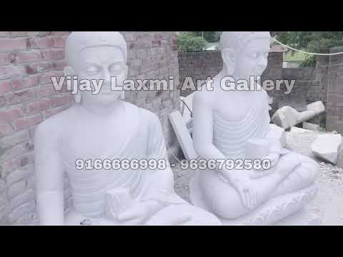 White Marble Lord Buddha Sitting Statue