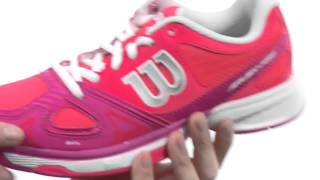 Wilson Rush Pro Junior Tennis Shoes video