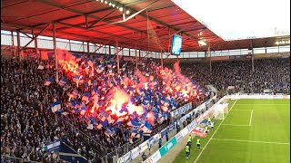 "Choreo, Pyro, Support + ""Scheiß Union"" 