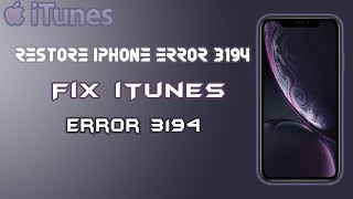 iphone error 3194 | restore iphone error 3194 | itunes error 3194 how to fix @Formula Pk