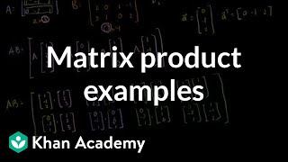Linear Algebra: Matrix Product Examples