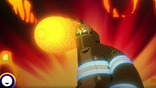 Fire Force Season 2 English Dub | Funimation Clip: Juggernaut can't be stopped