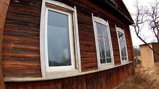 Крыша на каркас и установка окон // Из города в деревню